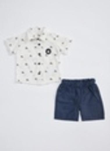 DeFacto Erkek Bebek Kısa Kollu Gömlek ve Şort Takım Lacivert